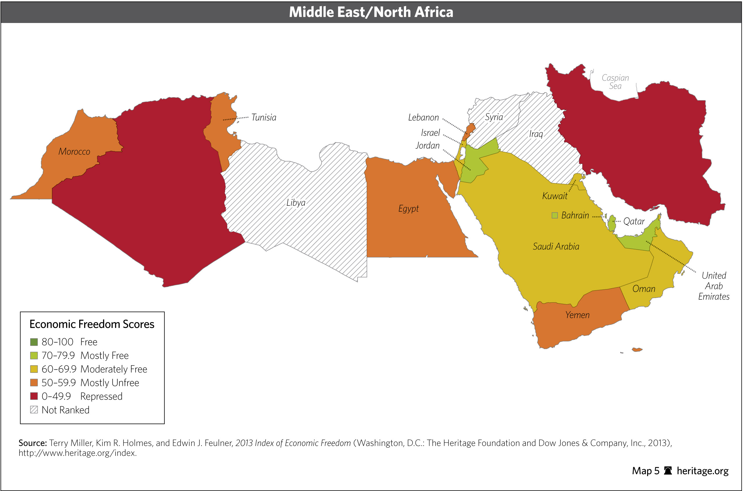 Download Index Of Economic Freedom Data Maps And Book Chapters - Mid east usa map