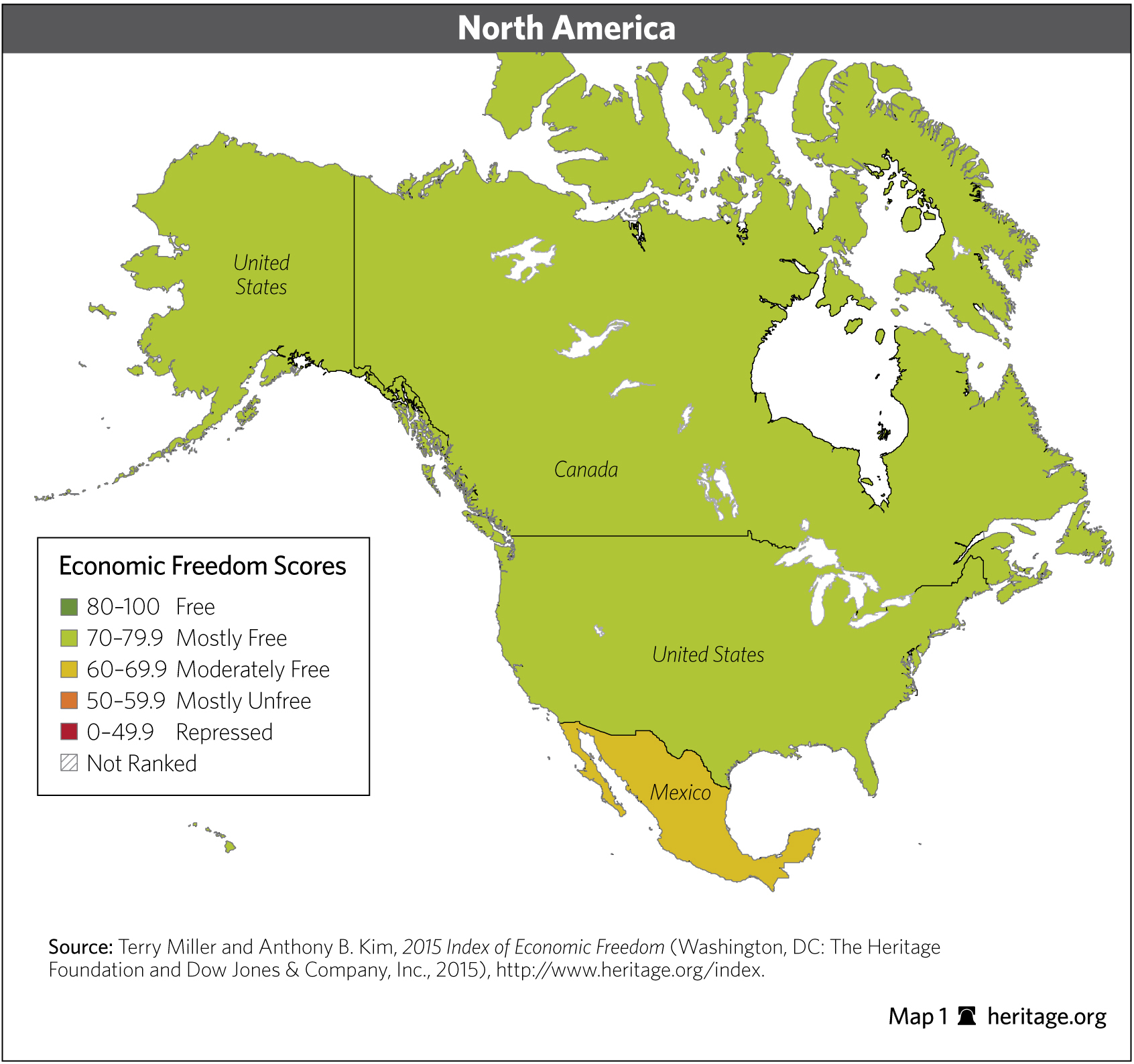 Download Index Of Economic Freedom Data Maps And Book Chapters - Us economic activity map