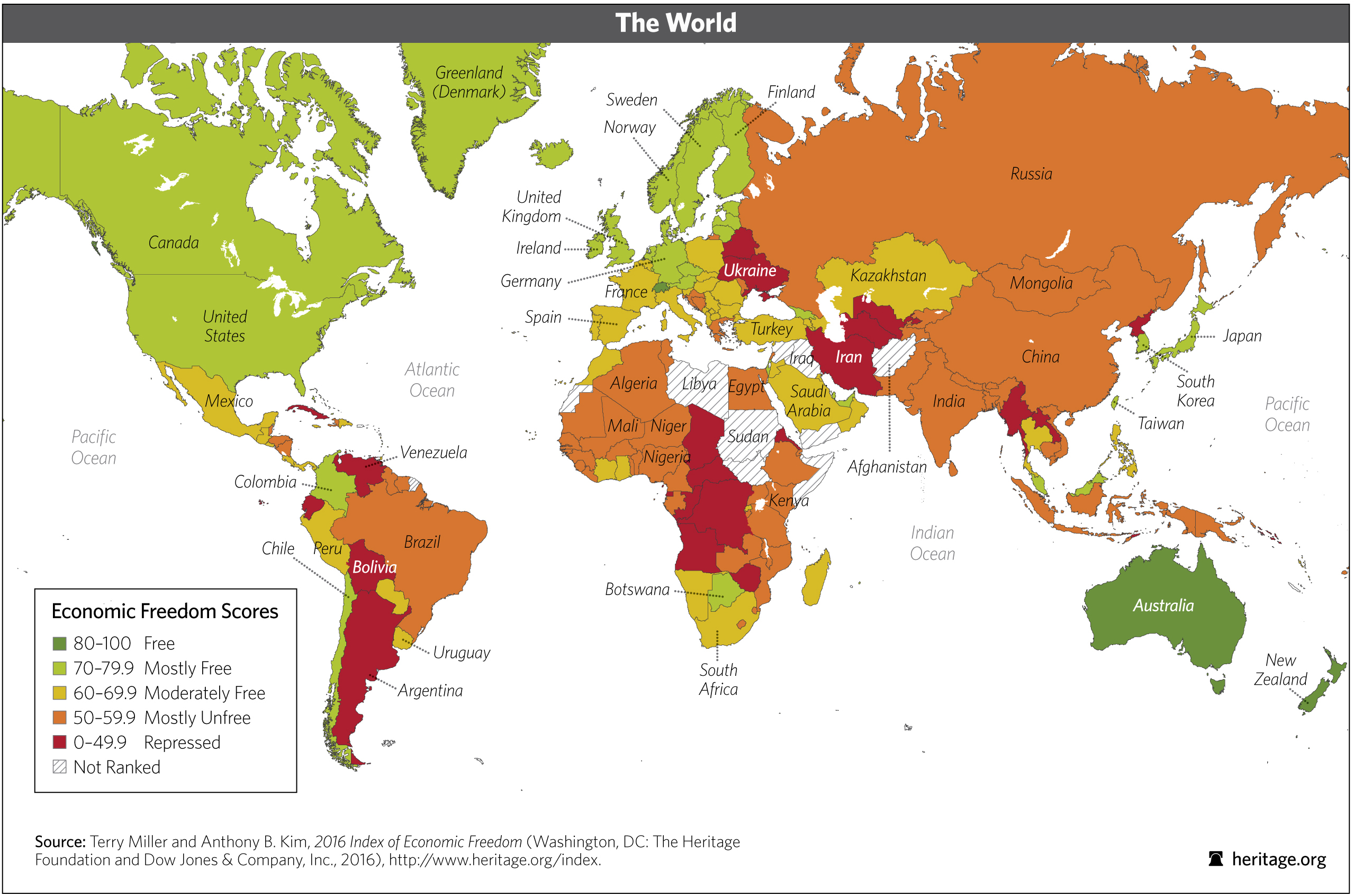 Download Index of Economic Freedom Data, Maps and Book Chapters