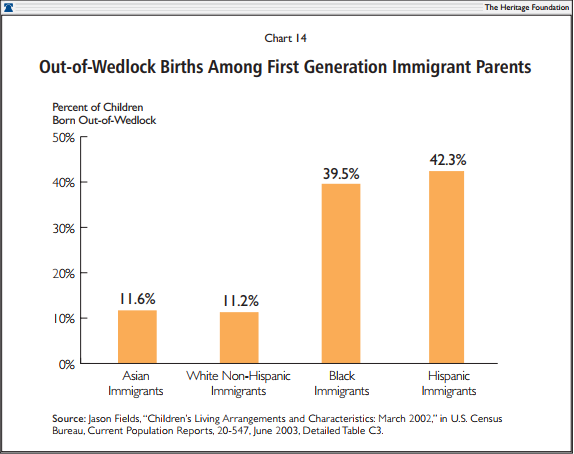 Out-of-Wedlock Births Among First Generation Immigrant Parents