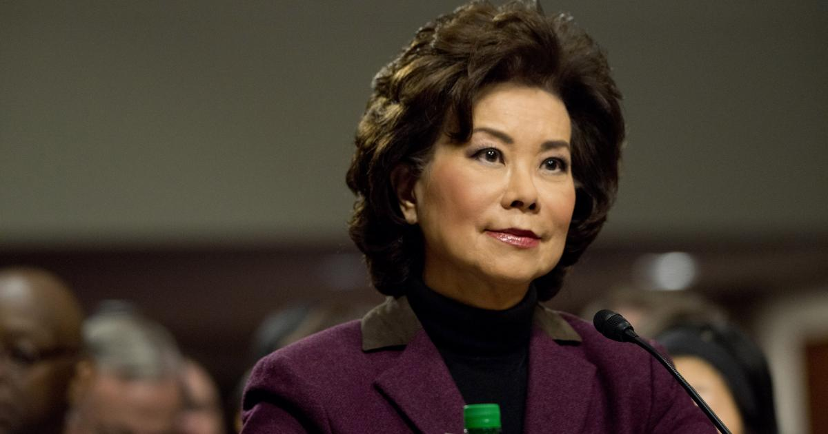 chao at transportation can bring much needed change on