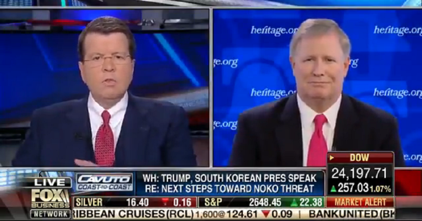 Video: Peter Brookes on Fox Business Network talking North