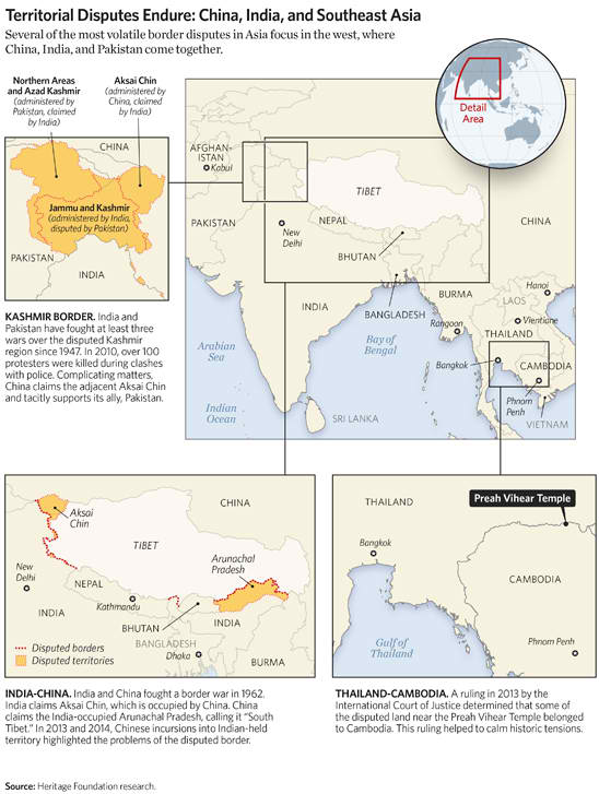 Territorial Disputes Endure: China, India, and Southeast Asia